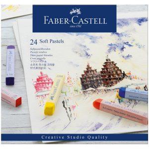 """Пастель Faber-Castell """"Soft pastels"""", 24 цв., картон. упак."""