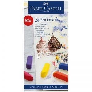 """Пастель Faber-Castell """"Soft pastels"""", 24 цв., мини, картон. упак."""