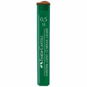 """Грифели для механических карандашей Faber-Castell """"Polymer"""", 12шт., 0,5мм, H"""