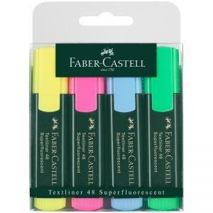 """Набор текстовыделителей Faber-Castell """"48"""" 4цв., 1-5мм, пластик. уп., европодвес"""