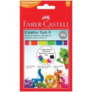"""Масса для приклеивания Faber-Castell """"Tack-It Creative"""", 50г., цветная, картон. уп., европодвес"""