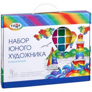 """Набор юного художника Гамма """"Классический"""", 13 предметов, в подарочной коробке"""
