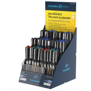 """Ручка-роллер Schneider """"Xtra 803/823"""" ассорти, 0,5мм, одноразовая, дисплей"""