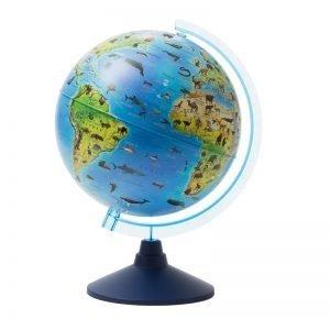 Глобус зоогеографический Globen, 25см, на круглой подставке