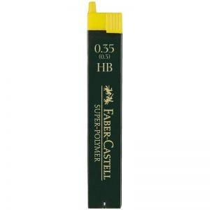 """Грифели для механических карандашей Faber-Castell """"Super-Polymer"""", 12шт., 0,35мм, HB"""