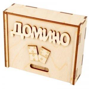 Игра настольная Домино. Десятое королевство, дерево, деревянная коробка