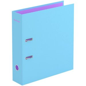 """Папка-регистратор Berlingo """"Haze"""", 80мм, матовая ламинированная, голубая"""