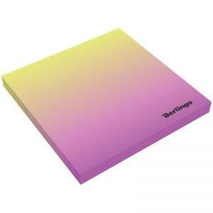 "Самоклеящийся блок Berlingo ""Ultra Sticky.Radiance"",75*75мм,50л,желтый/розовый градиент"