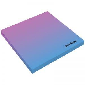 """Самоклеящийся блок Berlingo """"Ultra Sticky.Radiance"""",75*75мм,50л, розовый/голубой градиент"""