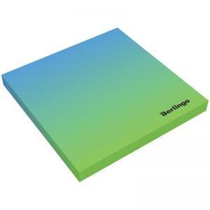 """Самоклеящийся блок Berlingo """"Ultra Sticky.Radiance"""",75*75мм,50л, голубой/зеленый градиент"""
