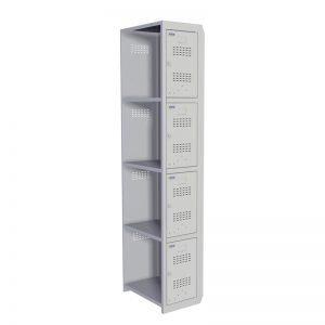 Шкаф для раздевалок модульный Практик ML-04-30 (доп. модуль), 1830*300*500, 1 секция