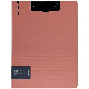 """Папка-планшет с зажимом Berlingo """"Instinct"""", A4, пластик (полифом), фламинго/черный"""