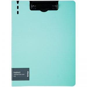 """Папка-планшет с зажимом Berlingo """"Instinct"""" A4, пластик (полифом), мятный/черный"""