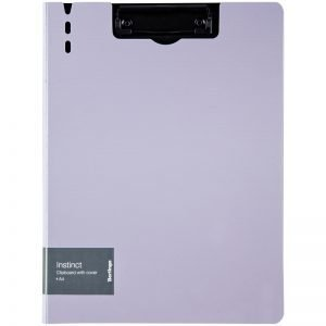 """Папка-планшет с зажимом Berlingo """"Instinct"""" A4, пластик (полифом), лаванда/черный"""