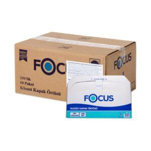 Одноразовые бумажные покрытия на унитаз Focus, 1сл, 37*44см, 250шт., белые