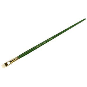 """Кисть художественная щетина Гамма """"Пейзаж"""", плоская, укороченный ворс №7, длинная ручка"""