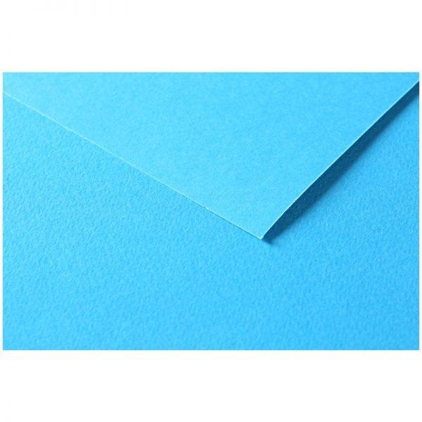 """Цветная бумага 500*650мм., Clairefontaine """"Tulipe"""", 25л., 160г/м2, бирюзовый, лёгкое зерно"""
