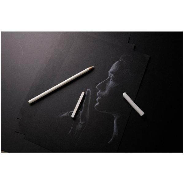 """Скетчбук-тетрадь 20л. А4 на гребне Clairefontaine """"Carb'ON"""", 120г/м2, мелкозерн., черный"""