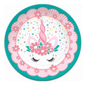 """Тарелки бумажные ПатиБум """"Единорог Pink&Tiffany"""", 18см, 6шт."""