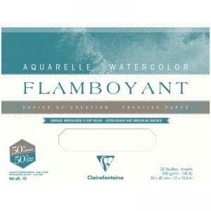 """Бумага для акварели 20л. 310*410мм Clairefontaine """"Flamboyant"""", 300 г/м2, экстра-торшон, склейка"""