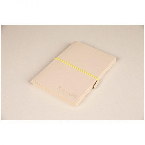 """Скетчбук для смешанных техник 32л., А5, на сшивке """"Paint'ON"""", 250г/м2, легкое зерно, натур., кожзам"""