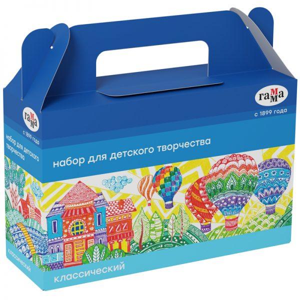 """Набор для детского творчества Гамма """"Классический"""", 6 предметов, в подарочной коробке"""