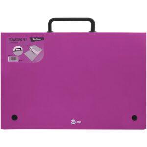 """Папка-портфель 13 отделений Berlingo """"Skyline"""", А4, 328*285мм, 700мкм, розовая"""