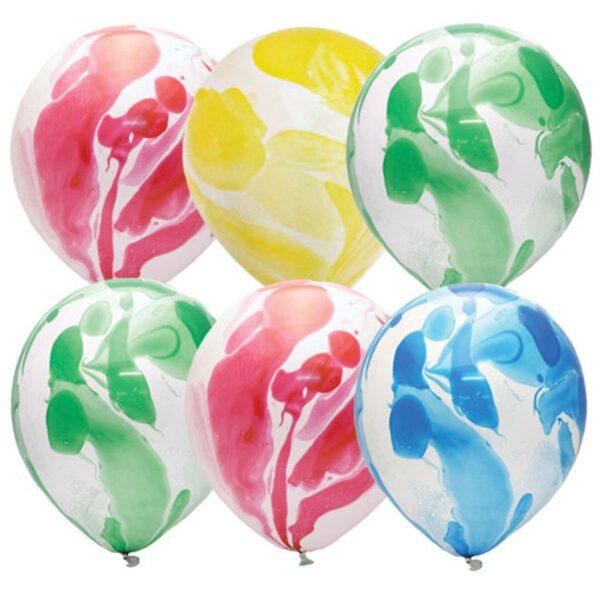 """Воздушные шары,  25шт., М12/30см, ПатиБум """"Многоцветный"""", шелк, европодвес"""