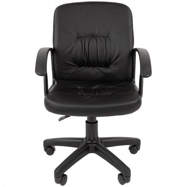 Кресло оператора Стандарт СТ-51 PL, экокожа черная, пиастра