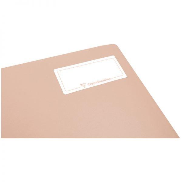 "Тетрадь 80л., А5, клетка на гребне Clairefontaine ""Koverbook Blush"", 90г/м2, пластик. обложка, сиреневая"