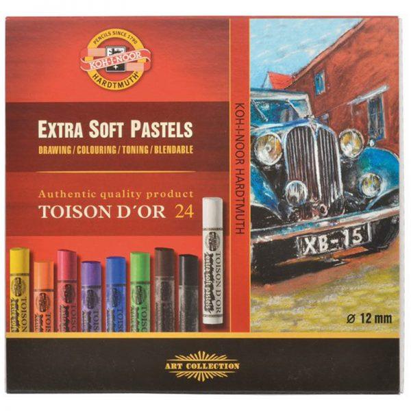 """Пастель художественная Koh-I-Noor """"Toison D'or Extra Soft 8554"""", 24цв., картон. упак."""
