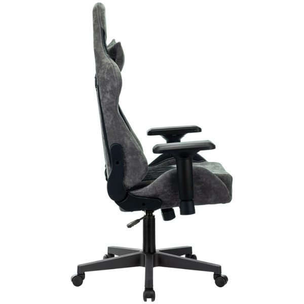 Кресло игровое Бюрократ VIKING 7 KNIGHT B FABRIC, ML, ткань/экокожа черный, реклайнер (до 150кг)
