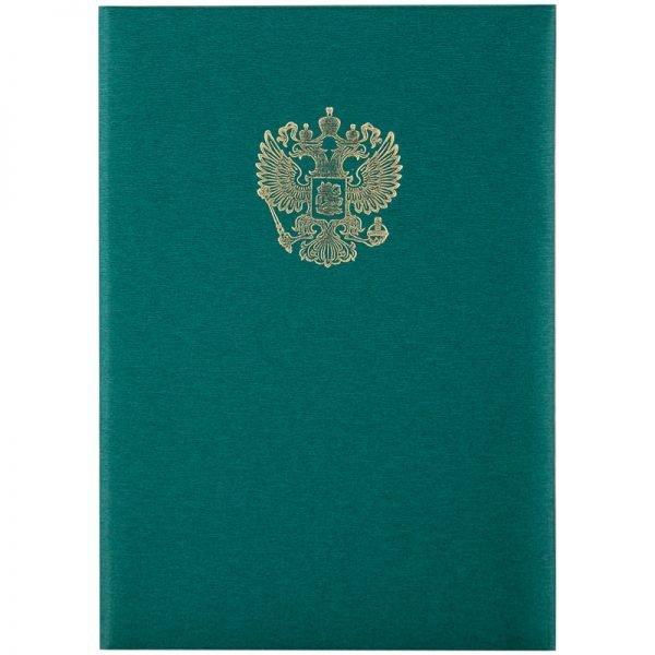 Папка адресная с российским орлом OfficeSpace, А4, балакрон, зеленый, инд. упаковка