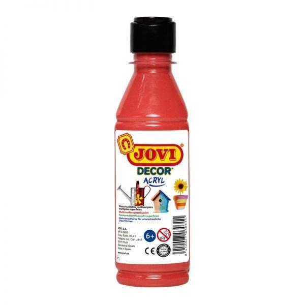 Краска акриловая JOVI, 250мл, пластиковая бутылка, красный