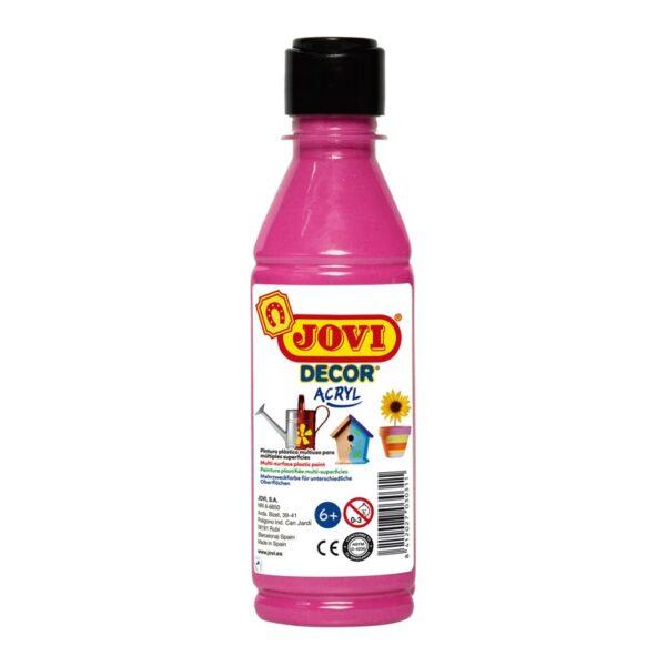 Краска акриловая JOVI, 250мл, пластиковая бутылка, розовый