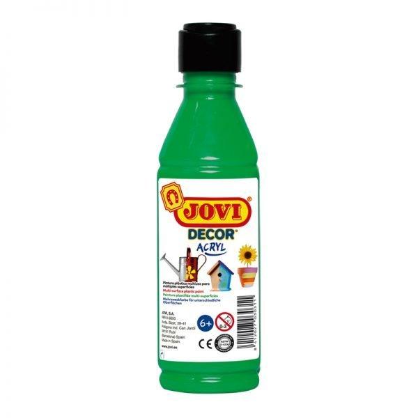 Краска акриловая JOVI, 250мл, пластиковая бутылка, зеленый