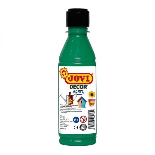 Краска акриловая JOVI, 250мл, пластиковая бутылка, темно-зеленый
