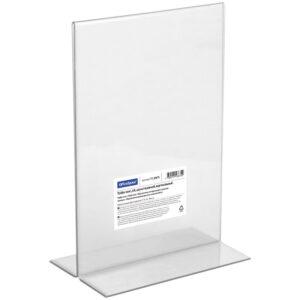 Тейбл-тент (Подставка для рекламы) OfficeSpace, А4, двухсторонний, вертикальный