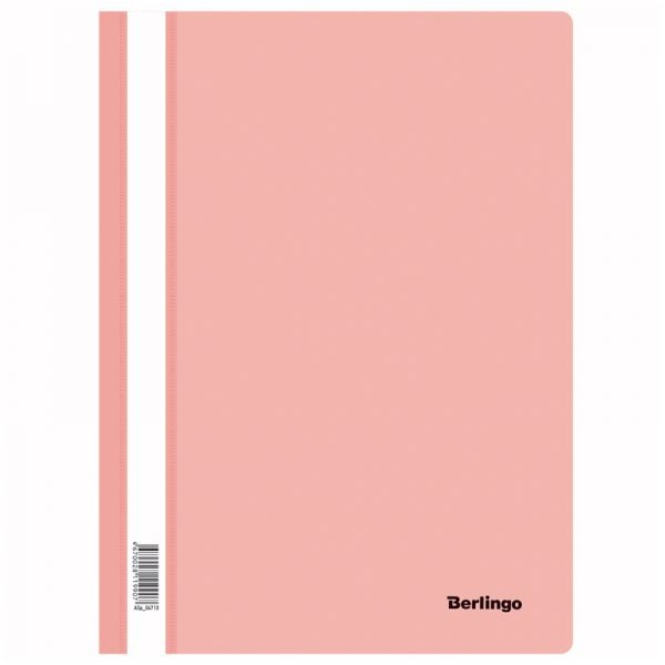 Папка-скоросшиватель пластик. Berlingo, А4, 180мкм, фламинго с прозр. верхом