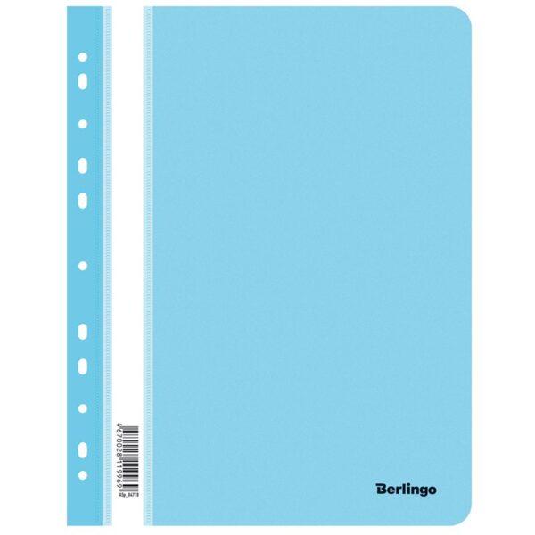 Папка-скоросшиватель пластик. перф. Berlingo, А4, 180мкм, аквамарин