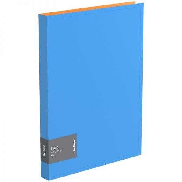 """Папка на 4-х кольцах Berlingo """"Fuze"""", 25мм, 600мкм, голубая"""