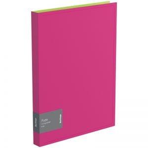 "Папка на 2-х кольцах Berlingo ""Fuze"", 25мм, 600мкм, розовая"