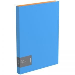 """Папка на 2-х кольцах Berlingo """"Fuze"""", 25мм, 600мкм, голубая"""