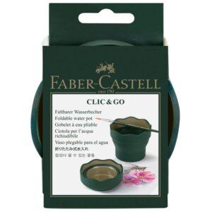 """Стакан для воды Faber-Castell """"Clic&Go"""", складной, темно-зеленый"""