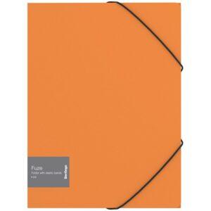 "Папка на резинке Berlingo ""Fuze"" А4, 600мкм, оранжевая"