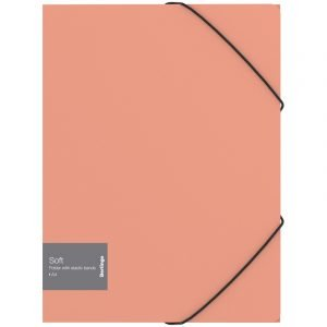 "Папка на резинке Berlingo ""Soft"" А4, 600мкм, коралловая"