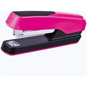 """Степлер №24/6, 26/6 Berlingo """"Fluent"""", до 25л., пластиковый корпус, розовый"""