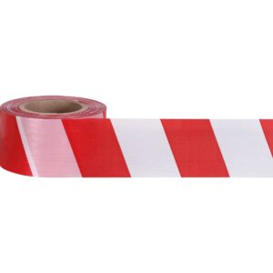 Лента оградительная 75 ш.(1х250) белая с красным