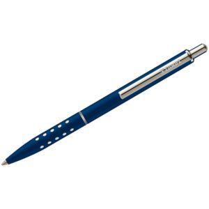 """Ручка шариковая Luxor """"Window"""" синяя, 1,0мм, корпус синий/хром, кнопочный механизм"""