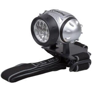 Фонарь налобный Smartbuy SBF-HL006-K, светодиодный, 21 LED, 3*ААА (не в комплекте), серый